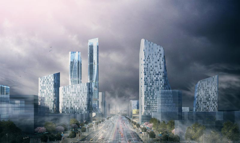<div class='title'>Urban design and architectural design of CBD core area in Xi 'an New District  西咸新区CBD核心区城市设计及建筑设计</div><div class='content'>中国,西安<br/>2016.11</div>